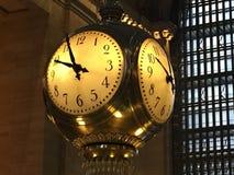 Reloj central magnífico de la estación Fotografía de archivo libre de regalías