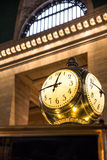 Reloj central magnífico de la estación Imágenes de archivo libres de regalías