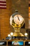 Reloj central magnífico New York City de la estación Imagen de archivo