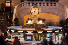 Reloj central New York City de la estación Fotografía de archivo libre de regalías