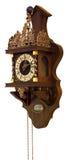 Reloj clásico viejo con los ornamentos del bronce y del oro Fotografía de archivo