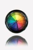 Reloj colorido Imágenes de archivo libres de regalías