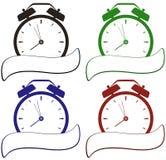 Reloj con el lugar para el texto Imagen de archivo libre de regalías