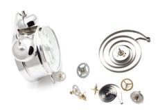 Reloj con mecanismo Foto de archivo libre de regalías