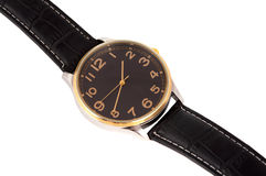 Reloj con una correa Imagen de archivo libre de regalías