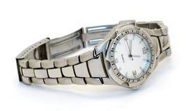 Reloj con una pulsera fotografía de archivo libre de regalías