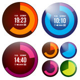 Reloj creativo Imagenes de archivo
