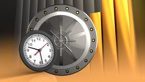 reloj 3D Fotografía de archivo libre de regalías