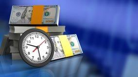 reloj 3D stock de ilustración