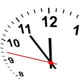Reloj 3D - once cincuenta y cinco ilustración del vector