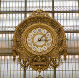 Reloj d'Orsay del museo de Musee Imagen de archivo