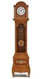 Reloj de abuelo en el fondo blanco Fotografía de archivo libre de regalías