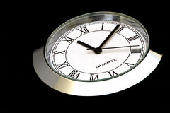 Reloj de acero en negro Foto de archivo