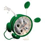 reloj de alarma 3D Fotografía de archivo libre de regalías