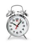 Reloj de alarma aislado Foto de archivo libre de regalías