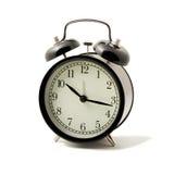 Reloj de alarma aislado Fotografía de archivo