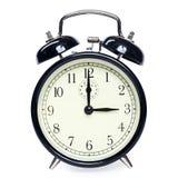 Reloj de alarma aislado Fotos de archivo libres de regalías