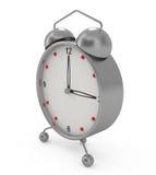 Reloj de alarma aislado en blanco Imagen de archivo libre de regalías