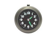 Reloj de alarma aislado en blanco Fotografía de archivo