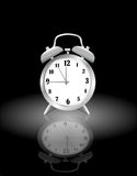 Reloj de alarma analogico stock de ilustración