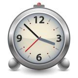 Reloj de alarma analogico de antaño Fotos de archivo libres de regalías