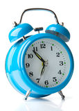 Reloj de alarma azul Imagen de archivo libre de regalías