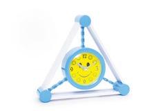 Reloj de alarma azul aislado en blanco Fotos de archivo libres de regalías