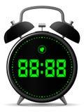 Reloj de alarma clásico con el indicador digital Fotografía de archivo
