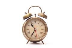 Reloj de alarma de cobre Fotografía de archivo