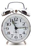 Reloj de alarma de Crome Fotos de archivo