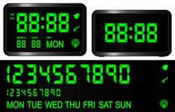 Reloj de alarma de Digitaces Imagen de archivo libre de regalías