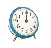 Reloj de alarma de la vendimia Fotografía de archivo