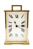 Reloj de alarma de oro Fotografía de archivo libre de regalías