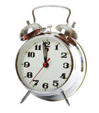 Reloj de alarma de plata Fotografía de archivo