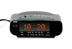 Reloj de alarma de radio de Digitaces Fotos de archivo