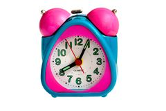 Reloj de alarma del bebé Imagen de archivo libre de regalías