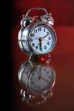 Reloj de alarma del metal. Foto de archivo libre de regalías