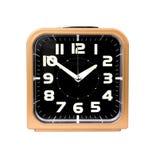 Reloj de alarma del oro Fotografía de archivo libre de regalías