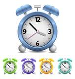 Reloj de alarma del vector Fotos de archivo libres de regalías
