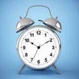 Reloj de alarma en fondo azul libre illustration