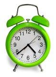 Reloj de alarma labrado viejo Imagen de archivo