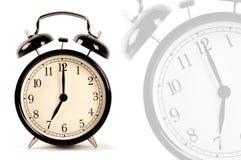 Reloj de alarma negro Foto de archivo