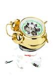 Reloj de alarma quebrado Foto de archivo libre de regalías
