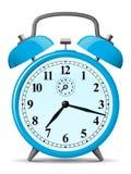 Reloj de alarma retro azul Imágenes de archivo libres de regalías