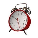 Reloj de alarma rojo Fotos de archivo libres de regalías