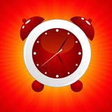 Reloj de alarma rojo Fotos de archivo