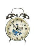 Reloj de alarma ruso antiguo Imágenes de archivo libres de regalías