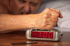 Reloj de alarma sensacional en el 7:00 mañana. Fotografía de archivo libre de regalías