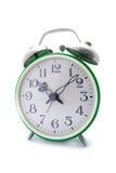 Reloj de alarma verde Foto de archivo