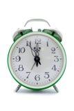 Reloj de alarma verde Imágenes de archivo libres de regalías